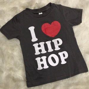 Boutique Custom I ❤️ Hip Hop Graphic Tee